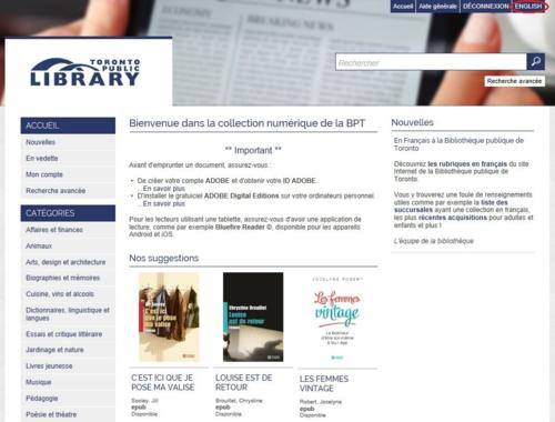 MaBiblioNumérique Home Page